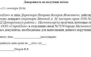 Какие документы должен предоставить директор ООО для получения заказного письма для ООО?